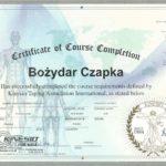 Bożydar Czapka - certyfikat kinesiotaping Kinesiologytaping