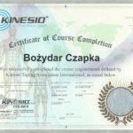 Bożydar Czapka - certyfikat z Kinesiotapingu